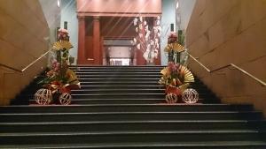 門司港ホテル フロントへの階段