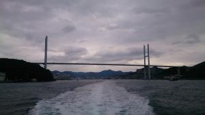 長崎湾を出て外海へ