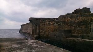 軍艦島 堤防