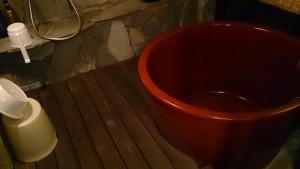 藻の花 部屋 陶器風呂1