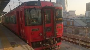 熊本駅。九州横断特急。