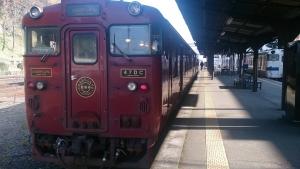 人吉駅。いさぶろう3号