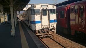 吉松駅。吉都線普通列車。