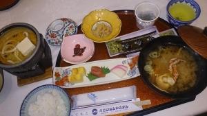 青島グランドホテル 夕食料理1