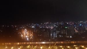 城山観光ホテル ホテル前の夜景