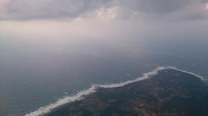 屋久島上空。