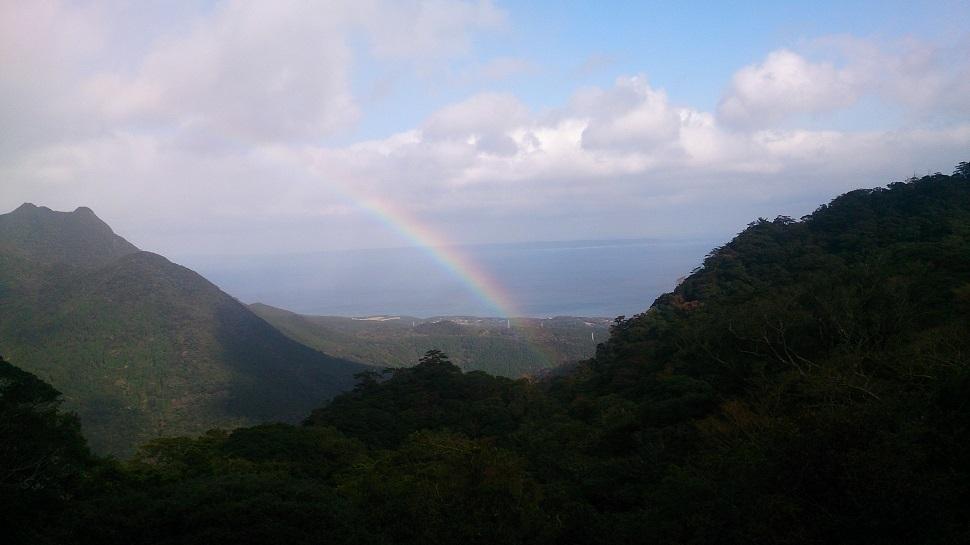 明星岳展望台 虹