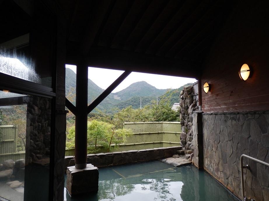 あかねの郷、大浴場。露天風呂。