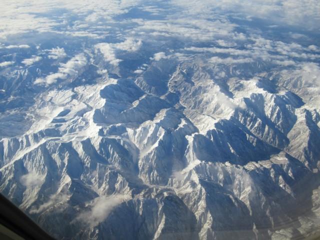 12月30日 真ん中が剱岳
