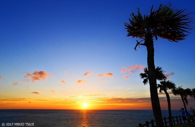 絶景探しの旅 - 0247 東シナ海に沈む奄美の夕日 (奄美大島・大浜海浜公園/鹿児島県 奄美大島)