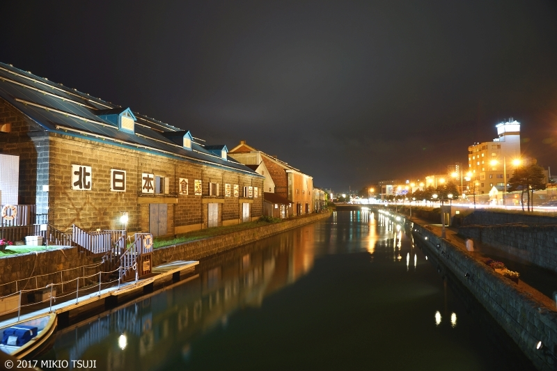絶景探しの旅 - 0271 夜に輝く小樽運河倉庫街 (北海道 小樽市)