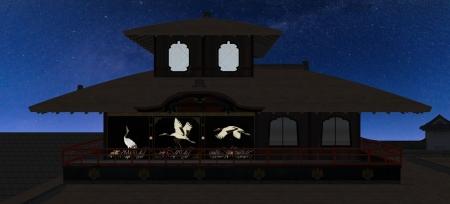 夜の聚楽第の飛雲閣5-16-1