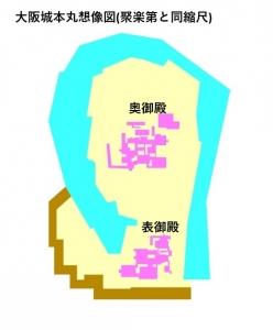 大阪城本丸想像図