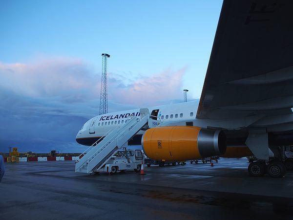 コペンハーゲン行きの飛行機