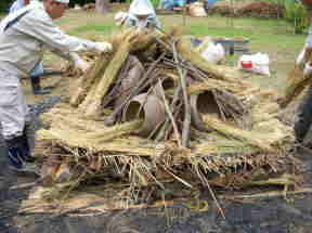 弥生土器(覆い焼き)