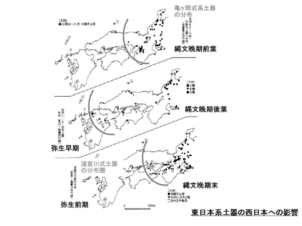 東日本土器西への影響
