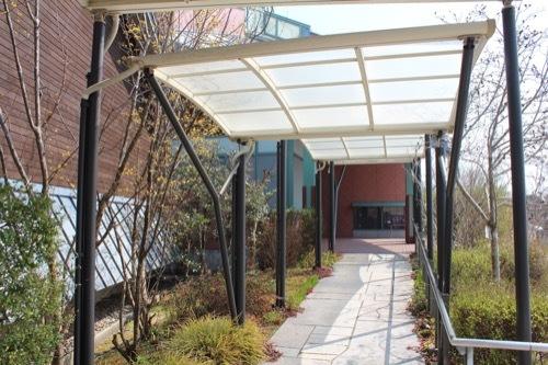0249:田辺市立美術館 入口までのキャノピー