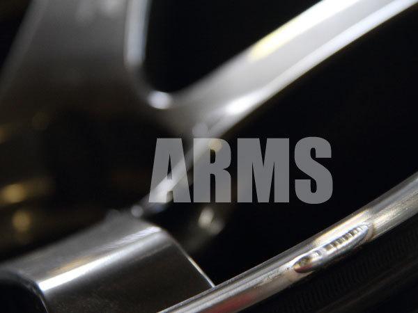 ホイールのリムをアルミ溶接で修復する
