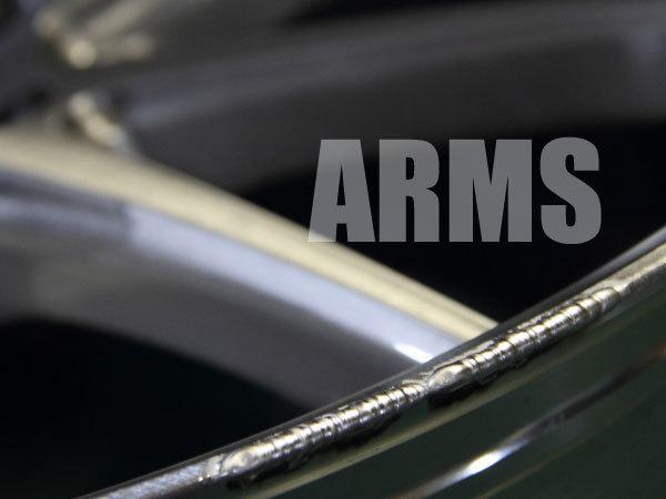 ホイールの欠けた部分をアルミ溶接で修復する
