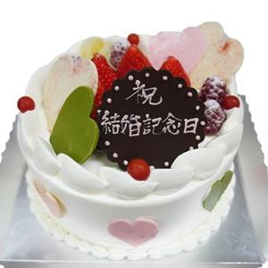 ハートショート5号サイズ 祝結婚記念日