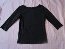 無印良品 オーガニックコットンストレッチボートネック7分袖Tシャツ (1)
