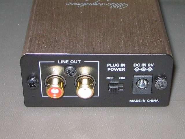 オーディオテクニカ audio-technica マイクロフォンアンプ AT-MA2 本体裏側