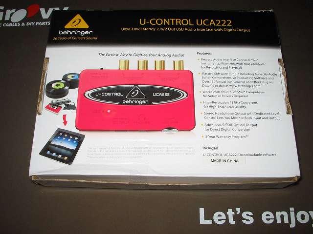 ベリンガー BEHRINGER USB オーディオインターフェイス U-CONTROL UCA222 パッケージ裏面