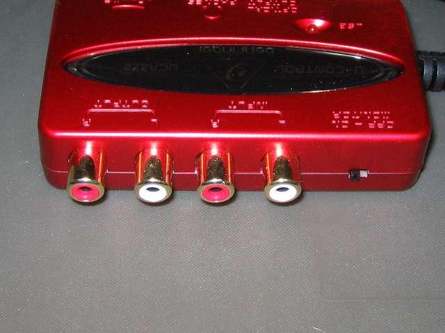 ベリンガー BEHRINGER USB オーディオインターフェイス U-CONTROL UCA222 RCA ケーブル端子 インプット・アウトプット、モニタースイッチ