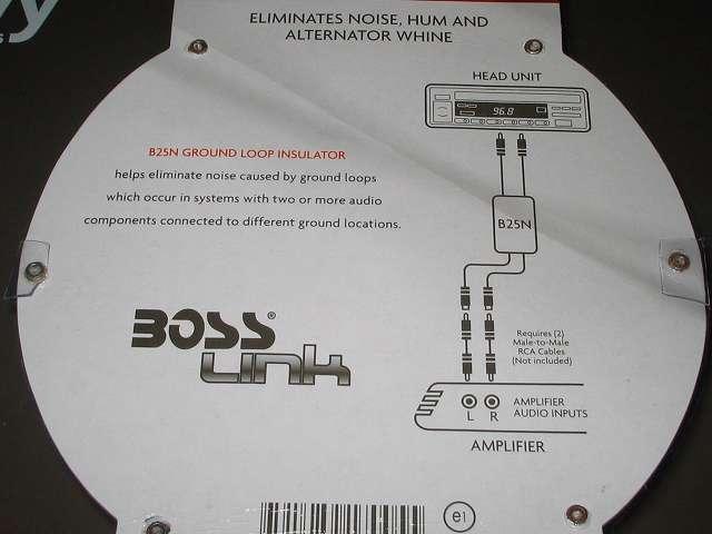 BOSS RCAノイズフィルター アイソレータ B25N AUDIO パッケージ裏面