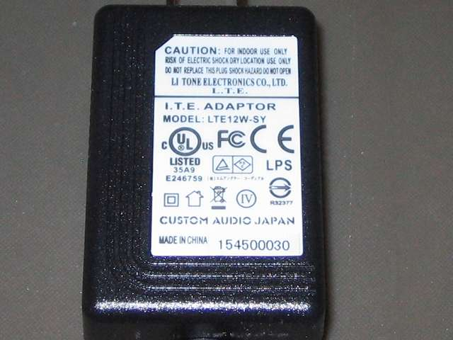 CAJ カスタムオーディオジャパン 電源アダプター POWER BLOCKS PB12DC9-2.5R 12W/センタープラス 本体