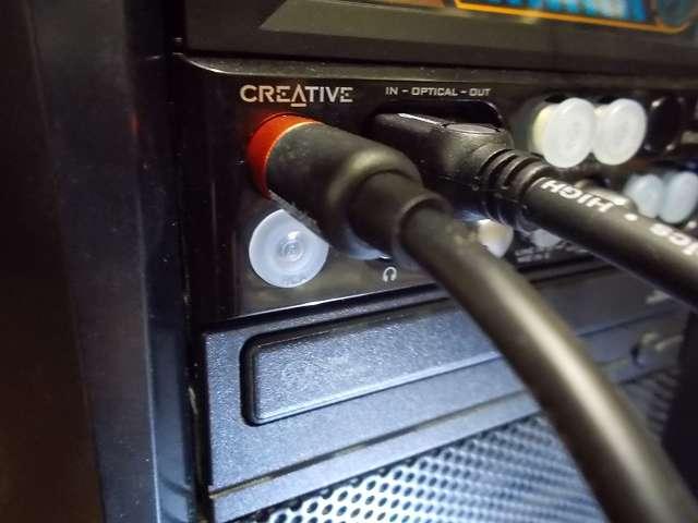 Creative Sound Blaster X-Fi Fatal1ty 5インチベイ用 I/O ドライブの同軸デジタルイン端子(SPDIF-IN)、光デジタルイン端子(OPTICAL-IN)に Amazon ベーシック同軸デジタル・TOSLINK トスリンクケーブル接続