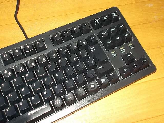 ダーマポイント タクティカルキーボード テンキーレスタイプ DRTCKB91UP2 キートップをスライダー(プランジャー)に装着してキーボードのクリーニング・メンテナンス完了