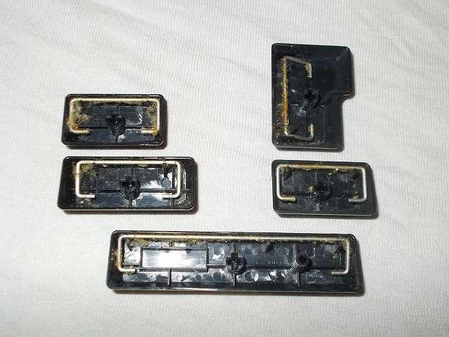 ダーマポイント タクティカルキーボード テンキーレスタイプ DRTCKB91UP2 キートップ(Caps Lock キー、左 Shift キー、スペースバー、右 Shift キー、Enter キー)スタビライザーに付着している古くなったグリス