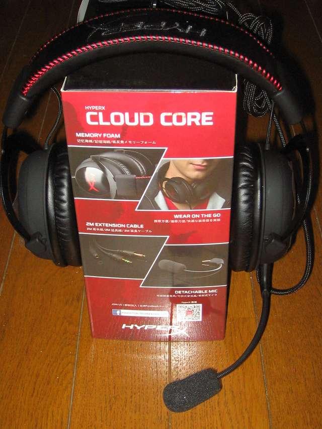 Kingston ゲーミング ヘッドセット HyperX Cloud Core KHX-HSCC-BK-FR ブラック/レッド 付属品省略モデル 2年保証付き ヘッドセット装着図