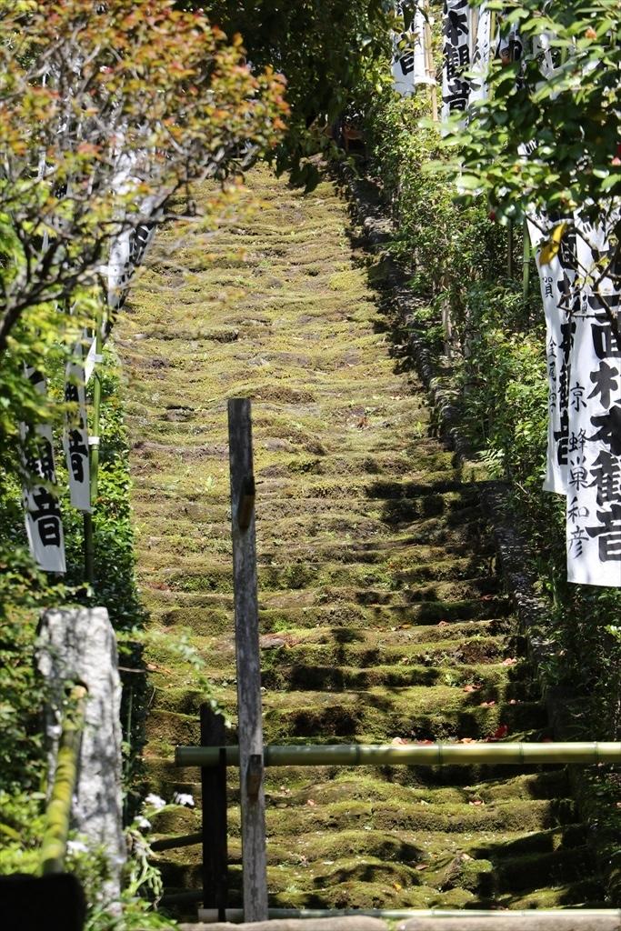 鎌倉石の苔生した石段_2