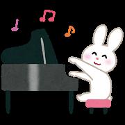 うさぎ&ピアノ