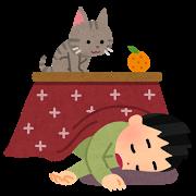 ネコ(こたつで寝る