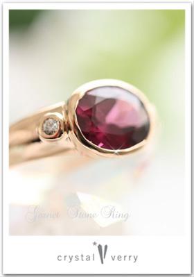 ガーネット 指輪 18k