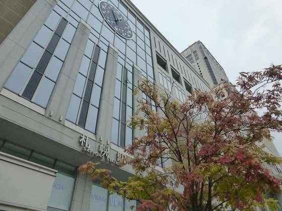 秋の札幌駅前