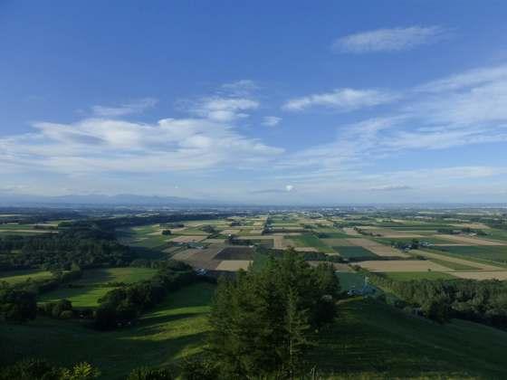 新嵐山スカイパークから見る十勝平野