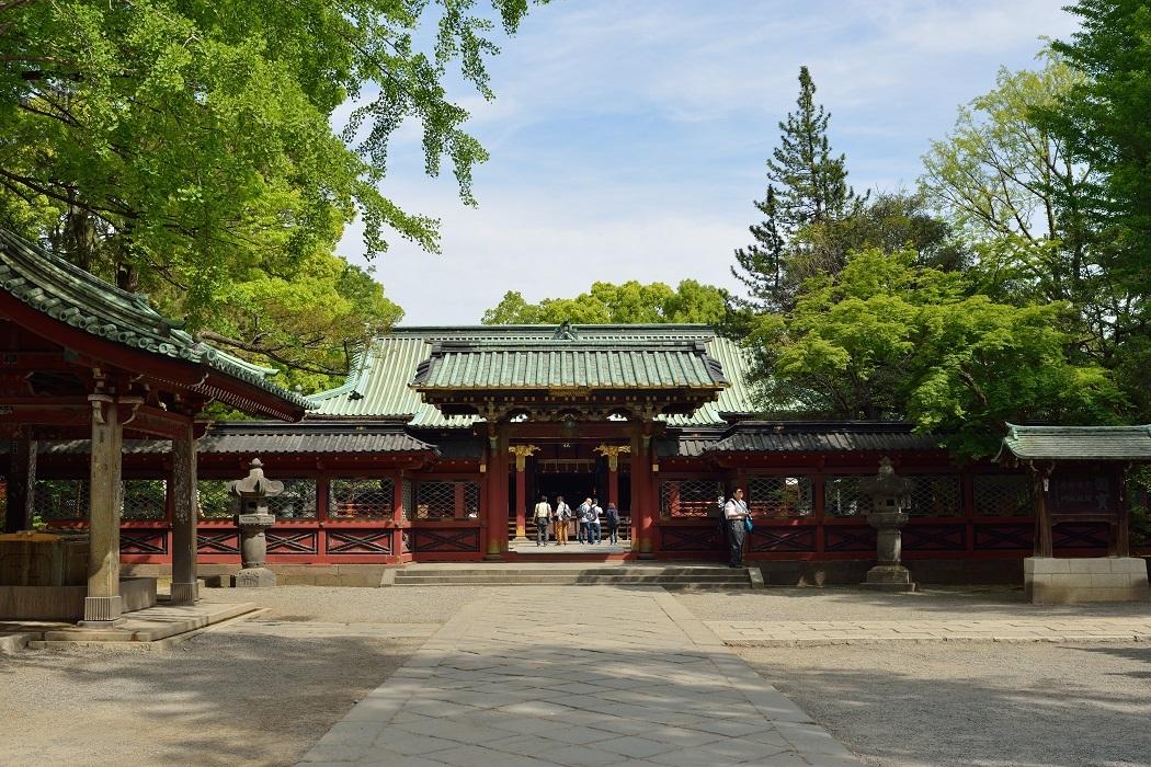 根津神社にて