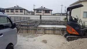 滋賀県東近江市八日市 和モダン 注文住宅 基礎工事 コンクリ-ト打設