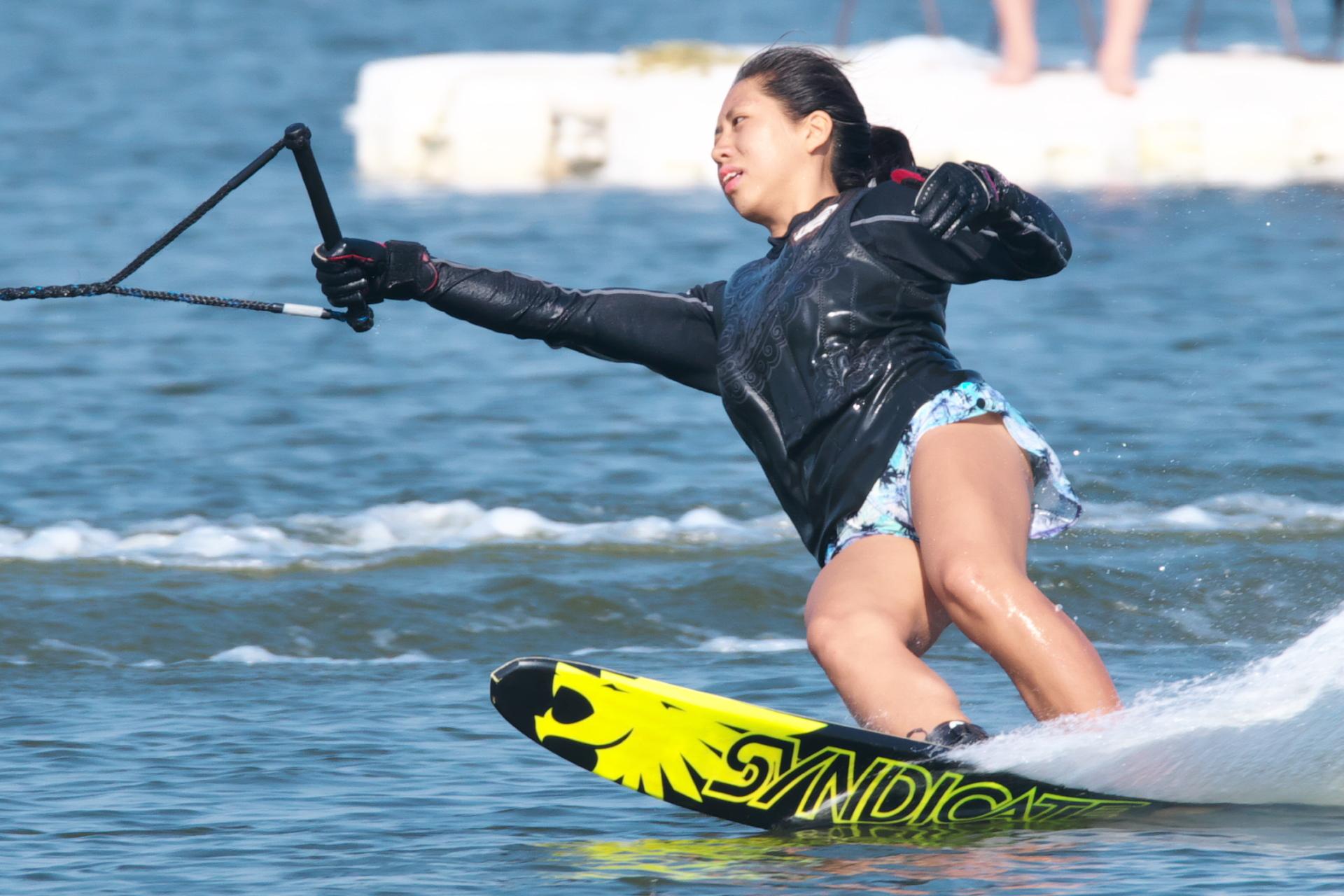 松尾夏菜子選手(立4)2017CS1 W's Slalom 優勝
