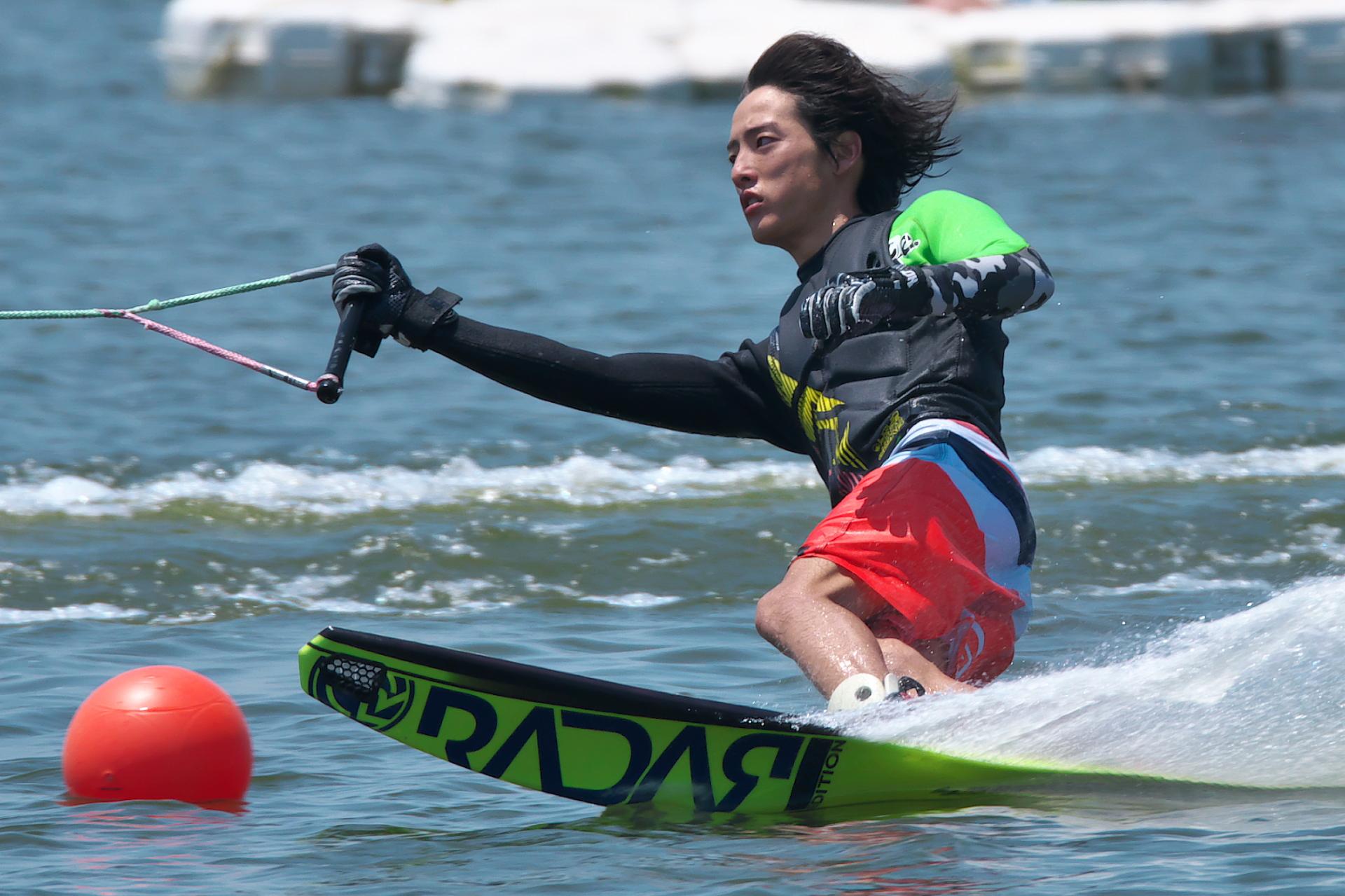 長友洸選手(明4)2017CS1 M's Slalom 2nd
