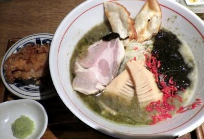 麺と心 7 海苔白湯ラー麺 ~味変わさび別添え~