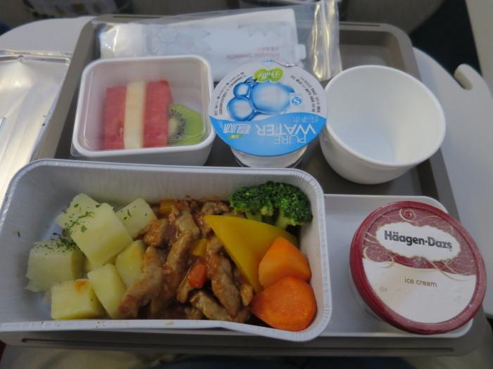 キャセイドラゴン 機内食