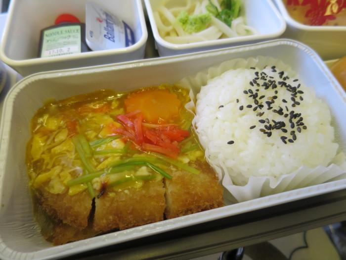 キャセイパシフィック 機内食 関西-香港