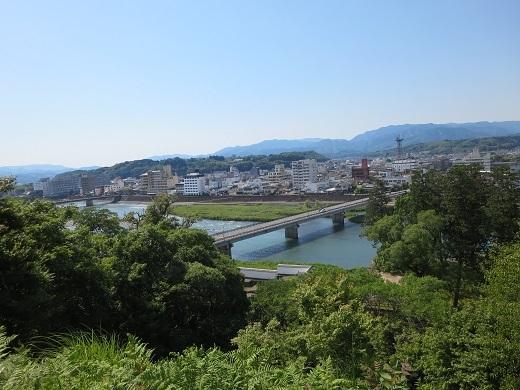 人吉城3ノ丸からの眺め