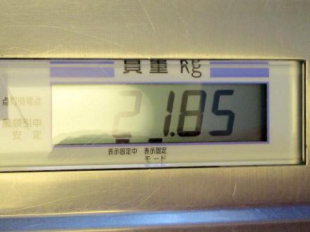 スフレの体重