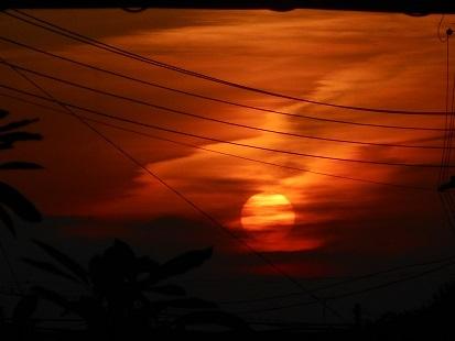 ②ある日の夕日